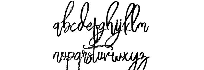 BloomyScriptFree Schriftart Kleinbuchstaben
