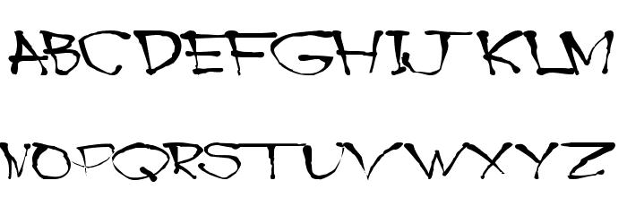 Blottooo Font UPPERCASE
