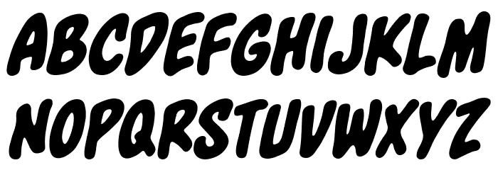 Blowhole BB Italic Font UPPERCASE