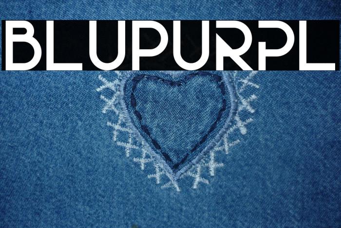 BluPurpl Fonte examples