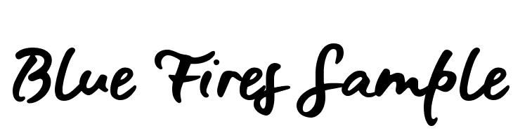Blue Fires Sample  baixar fontes gratis
