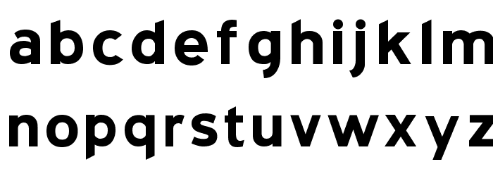 Blue Highway   Bold Font LOWERCASE