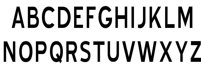 Blue Highway Condensed Regular Font UPPERCASE