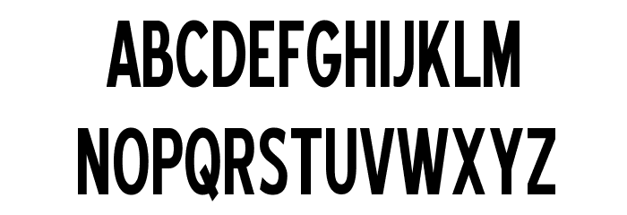 Blue Highway Condensed Font UPPERCASE