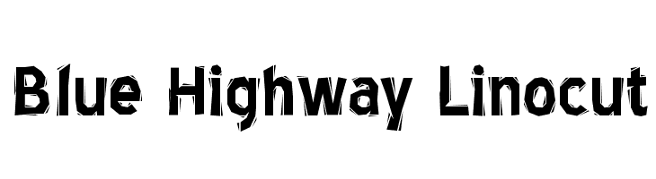 Blue Highway Linocut  Free Fonts Download