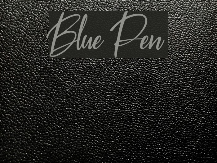 Blue Pen Polices examples