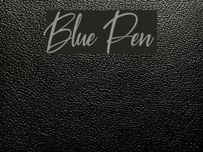 Blue Pen Fuentes examples