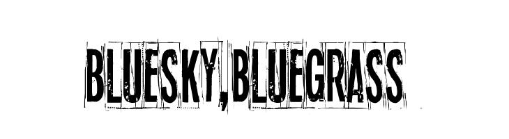 Blue sky, blue grass Шрифта