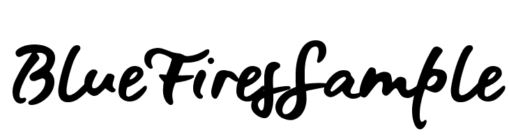 BlueFiresSample  baixar fontes gratis