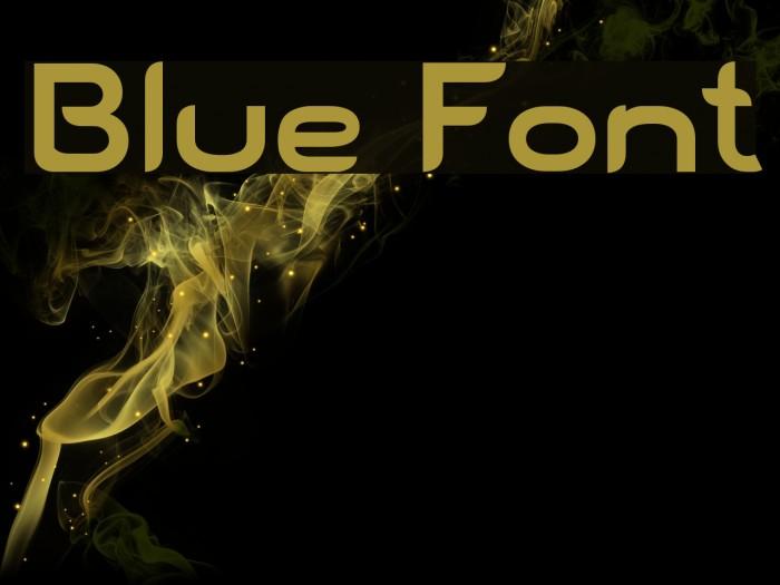 Blue Font examples