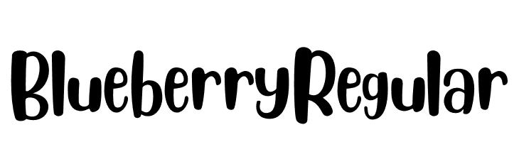 Blueberry Regular Font