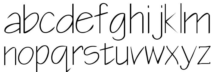 Blueprint Font LOWERCASE