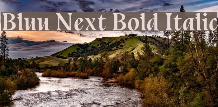 Bluu Next Bold Italic Font examples