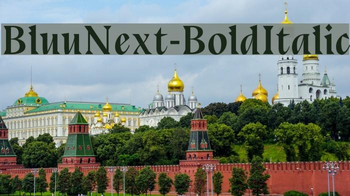 BluuNext-BoldItalic Font examples
