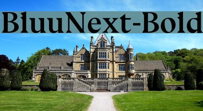 BluuNext-Bold Font examples