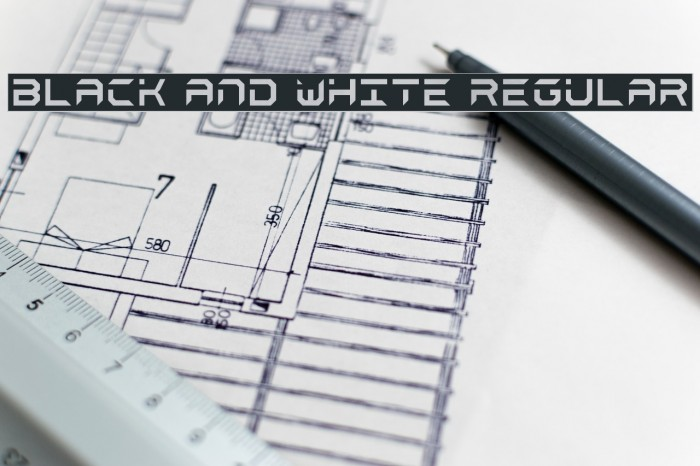 black and white Regular Font examples