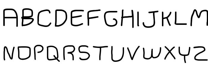 black pine trees Font UPPERCASE