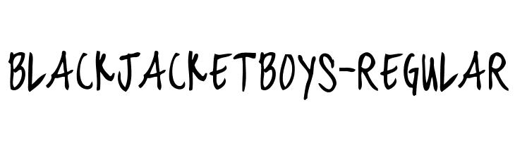 blackjacketboys-Regular  नि: शुल्क फ़ॉन्ट्स डाउनलोड