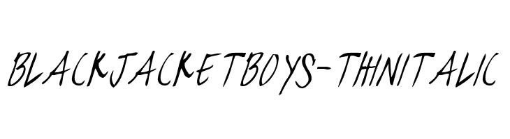 blackjacketboys-ThinItalic  नि: शुल्क फ़ॉन्ट्स डाउनलोड