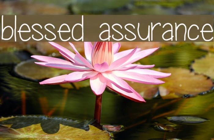 Karaoke Blessed Assurance - Gospel Singer - CDG, MP4, KFN