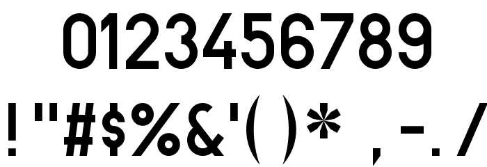 BN-67 9010-03 Font OTHER CHARS