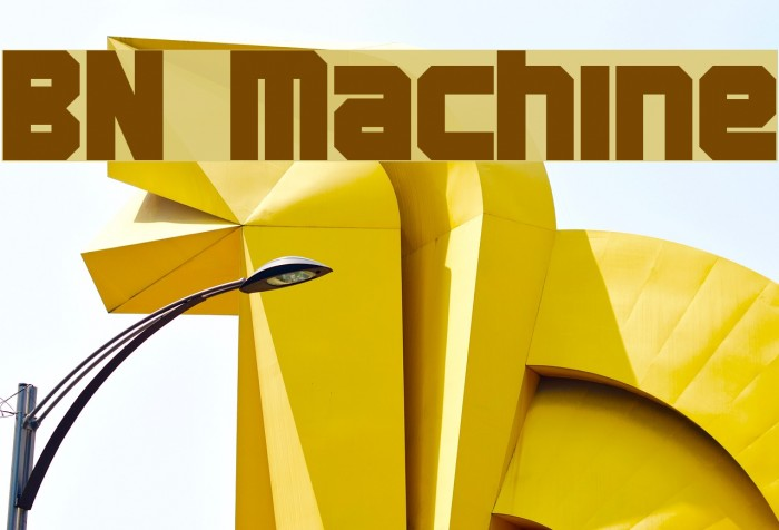 BN Machine Шрифта examples