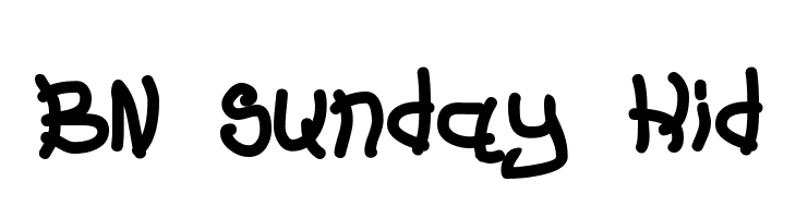BN Sunday Kid  Free Fonts Download