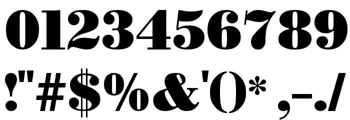 BODIDLYbold Font OTHER CHARS