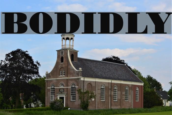 BODIDLYbold Font examples