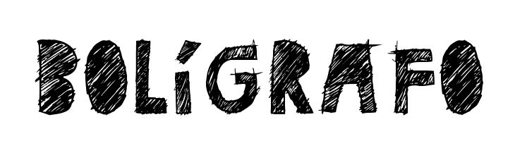 BOL�GRAFO  Free Fonts Download