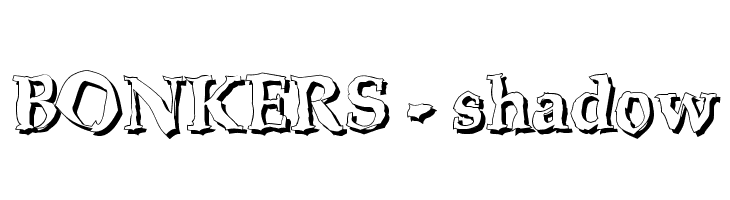 BONKERS - shadow  baixar fontes gratis