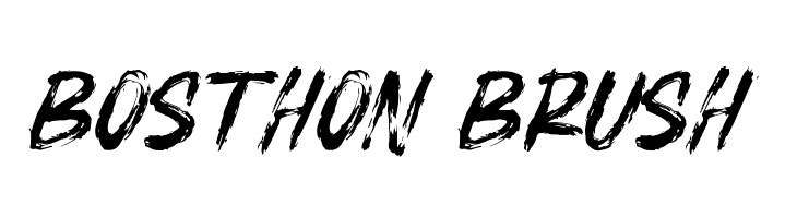 BOSTHON BRUSH Шрифта