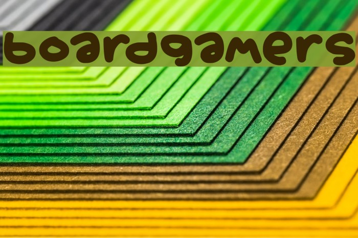 Boardgamers Шрифта examples
