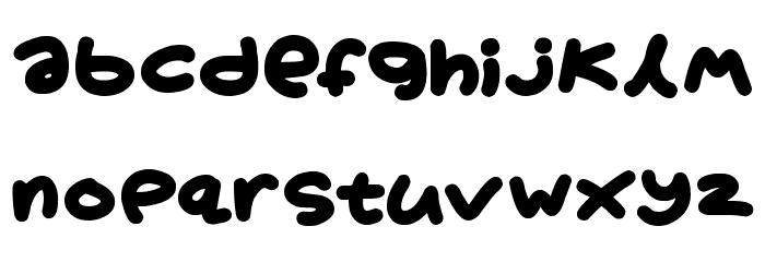 Boardgamers Schriftart Kleinbuchstaben