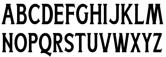 BoatmanRegular Font LOWERCASE