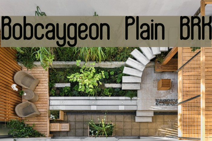 Bobcaygeon Plain BRK Font examples