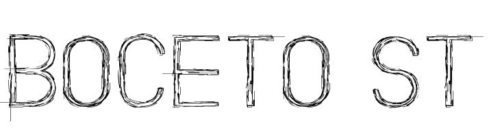 Boceto St  नि: शुल्क फ़ॉन्ट्स डाउनलोड