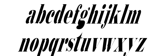 Bodidly-Conde 2 Font LOWERCASE