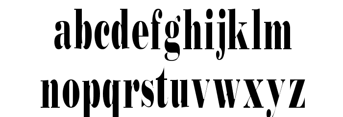 Bodidly-Condens Font LOWERCASE