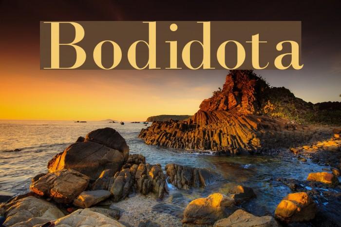 Bodidota Font examples