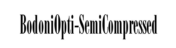 BodoniOpti-SemiCompressed  Frei Schriftart Herunterladen