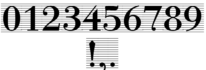 Bodonio Notebook Regular Font OTHER CHARS
