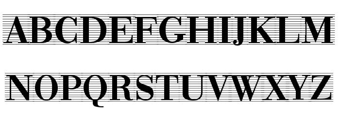 Bodonio Notebook Regular Font UPPERCASE