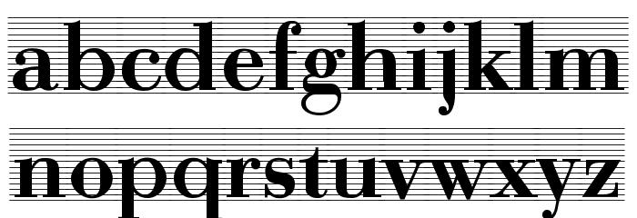 Bodonio Notebook Regular Font LOWERCASE