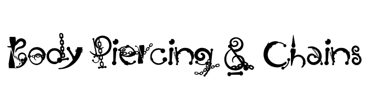 Body Piercing & Chains  Free Fonts Download