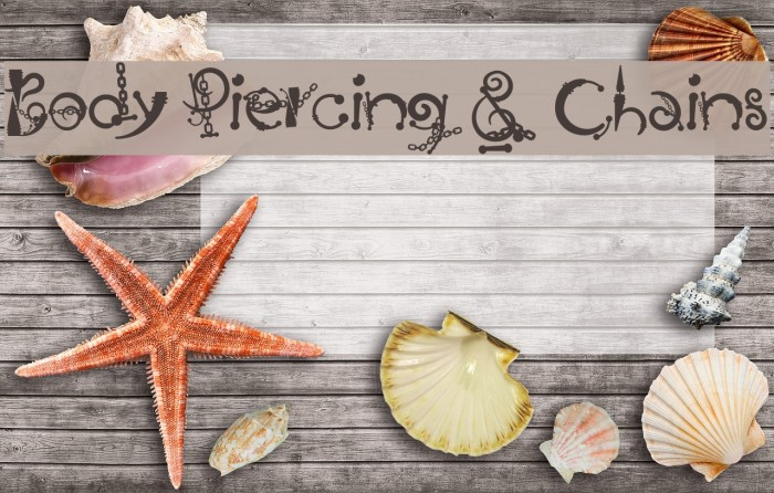 Body Piercing & Chains Font examples