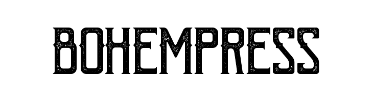 BohemPress  Free Fonts Download