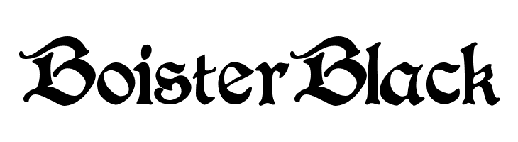 BoisterBlack  Free Fonts Download