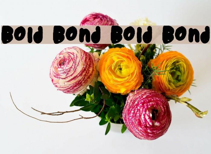 Bold Bond Bold Bond फ़ॉन्ट examples