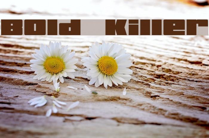 Bold Killer Fonte examples